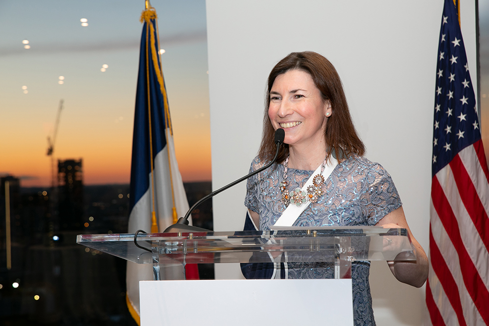 FACCNE Executive Director Ludivine Wolczik speaking at the 18th Annual French-American Business Awards
