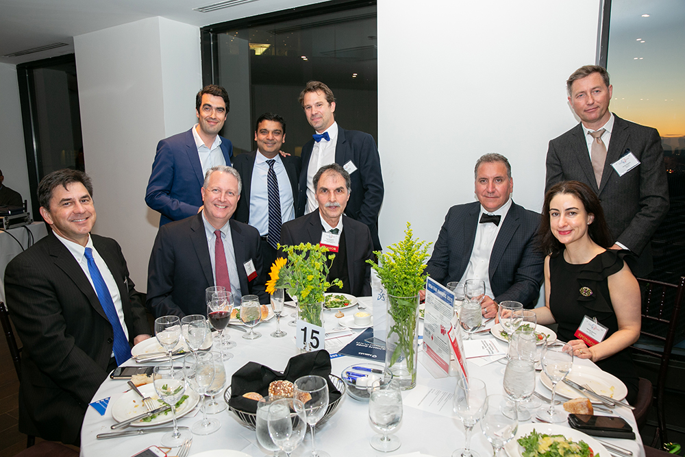 The Dassault Systèmes / Fragomen table at FACCNE's 18th Annual French-American Business Awards