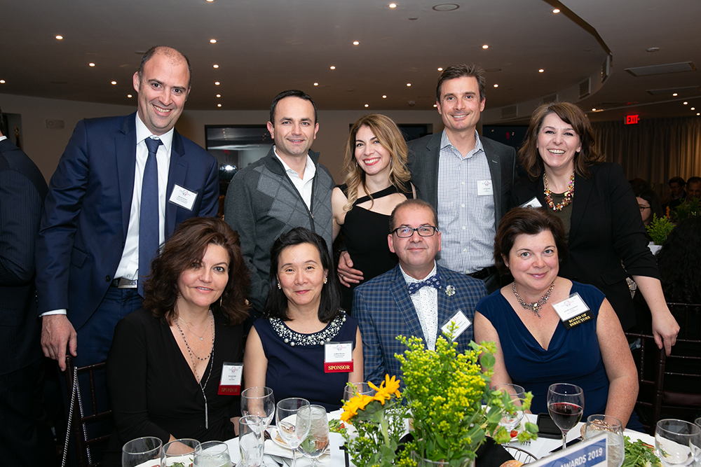 Axelia Partners, finalist Kymera Therapeutics, Board Member Jennifer Schünemann, and FWBN founder & Chair Sophie Koenig Rodriguez at  FACCNE's 18th Annual French-American Business Awards