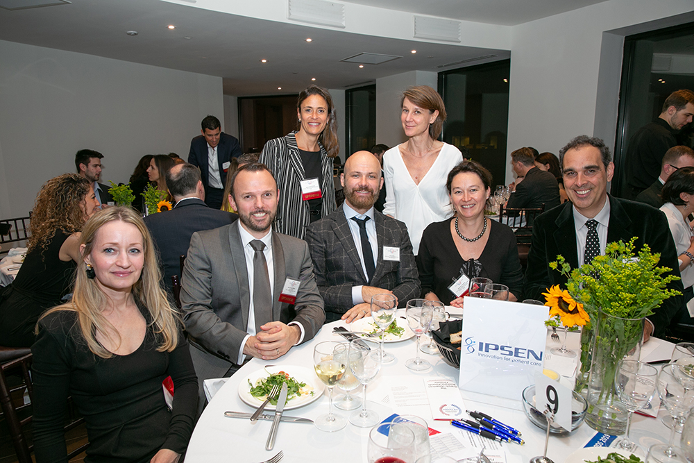 The Ipsen table at FACCNE's 18th Annual French-American Business Awards