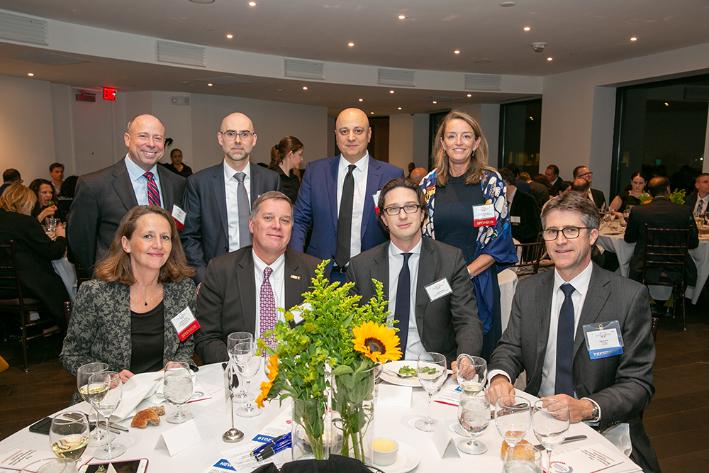 The table of honor at FACCNE's 18th Annual French-American Business Awards