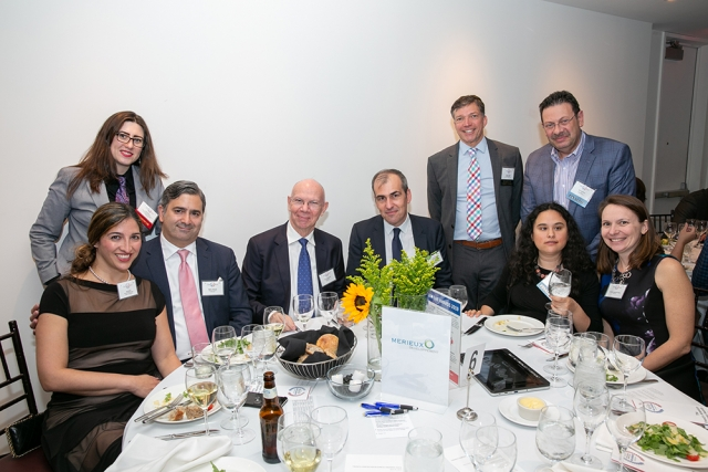 The InsideVision / Biomerieux / Merieux Developpement table at FACCNE's 18th Annual French-American Business Awards