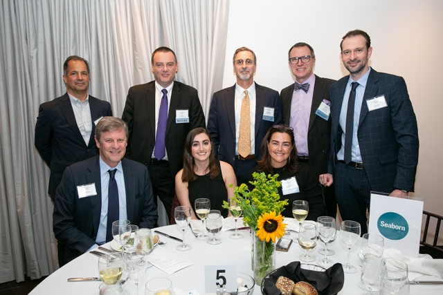 The Seaborn Networks table at FACCNE's 18th Annual French-American Business Awards