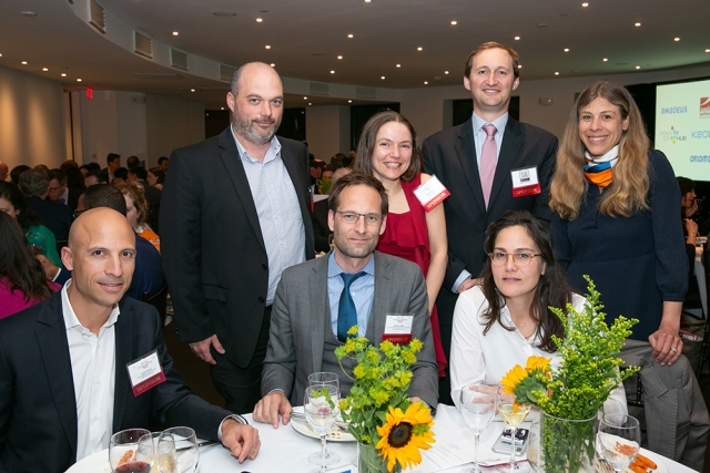 The Veolia North America table at FACCNE's 18th Annual French-American Business Awards