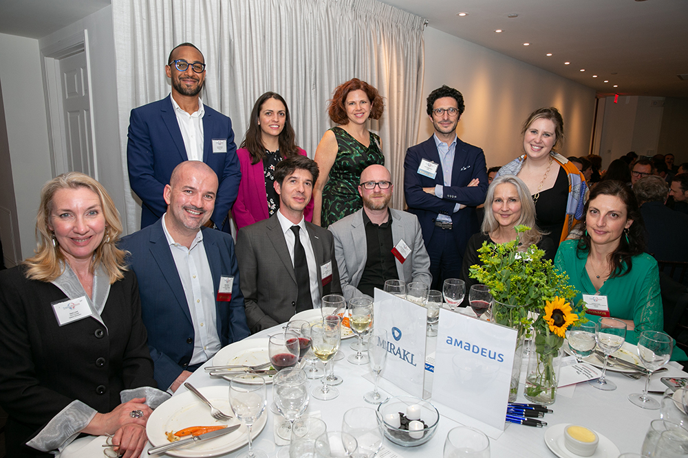 The Mirakl / Amadeus / Jade Fiducial table at FACCNE's 18th Annual French-American Business Awards