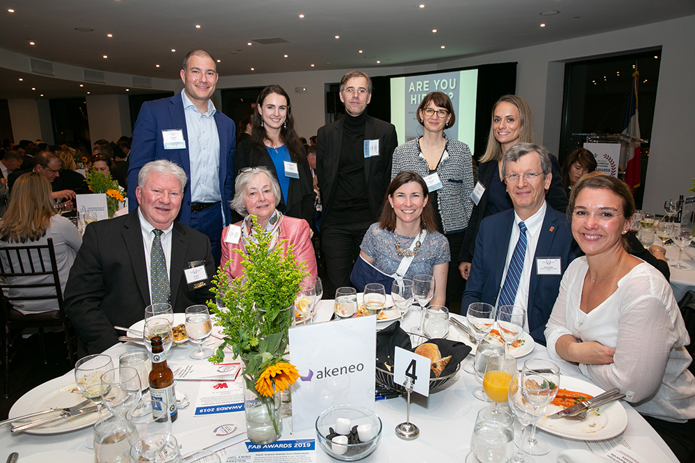 The Akeneo table at FACCNE's 18th Annual French-American Business Awards