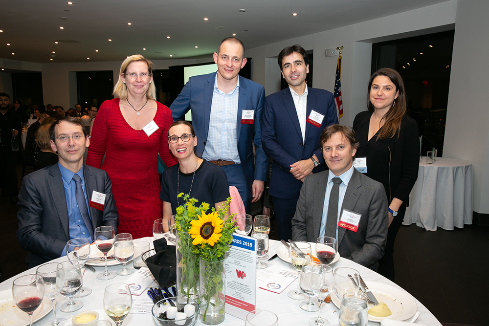 The table for Sanofi Genzyme at FACCNE's 18th Annual French-American Business Awards